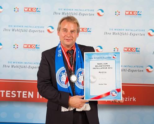 Ing. Günter Vida bei der Wahl zum beliebtesten Installateur 1120 Wien